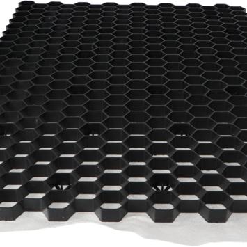 Grindrooster Zwart Kunststof met Worteldoek 119x79 cm - 0,94 m2