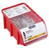 Cheville GAMMA boîte empilable 6 mm nylon 300 pièces