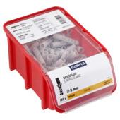 Cheville GAMMA boîte empilable 8 mm nylon 150 pièces