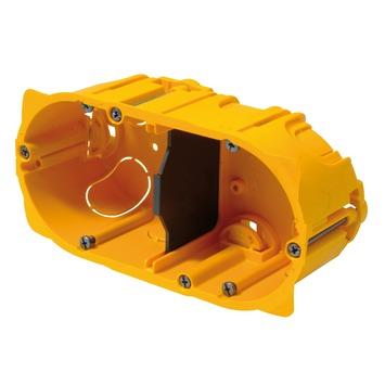 Boîtier d'encastrement mur creux double Batibox Legrand 71 mm jaune