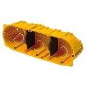 Legrand inbouwdoos holle wand 3-voudig horizontaal/verticaal 71 mm geel