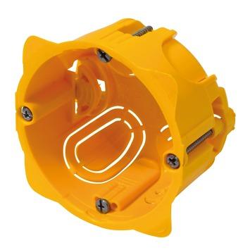 Boîtier d'encastrement mur creux simple Batibox Legrand 40 mm jaune