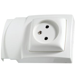 prise de courant dlp oteo legrand sans terre blanc prises de courant mat riel lectrique. Black Bedroom Furniture Sets. Home Design Ideas