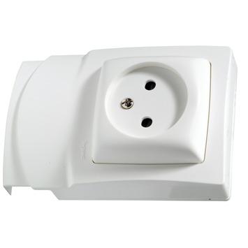 Legrand DLP Oteo stopcontact zonder aarding wit