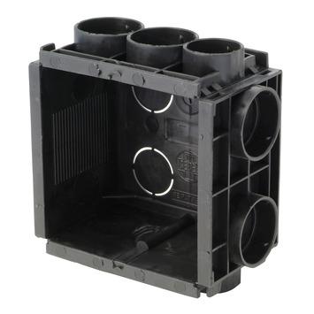 Helia inbouwdoos universeel zwart 40 mm 1 stuk