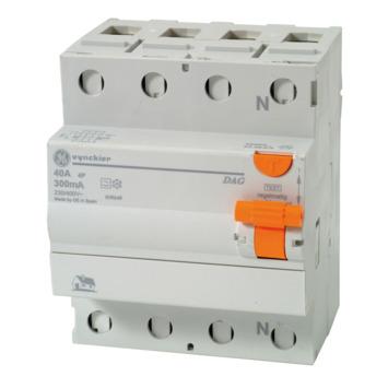 Disjoncteur différentiel Vynckier Diff-O-Jump 4P 40 A 300 mA