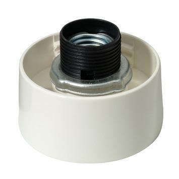 Douille E27 Profile droit bord blanc