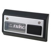 Bouton-poussoir sonnette Niko noir/aluminium