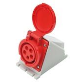 Profile CEE-stopcontact 5-polig 400 V 32 A grijs