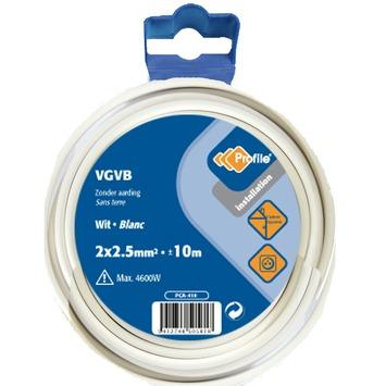 Câble Profile VGVB blanc 2x2,5 mm² - long. 10 m