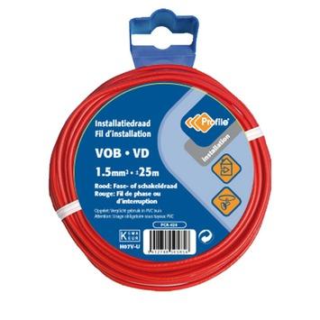 Profile VOB-kabel rood 1,5 mm² - lengte 25 m