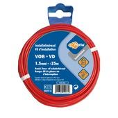 Câble Profile VOB rouge 1,5 mm² - long. 25 m