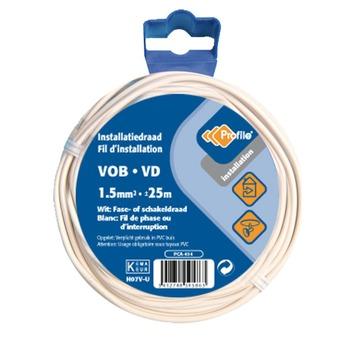 Câble Profile VOB blanc 1,5 mm² - long. 25 m
