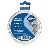 Profile VOB-kabel wit 1,5 mm² - lengte 25 m