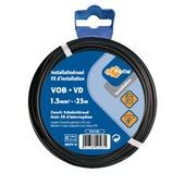 Profile VOB-kabel zwart 1,5 mm² - lengte 25 m