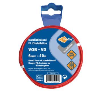 Câble Profile VOB rouge 6 mm² - long. 10 m