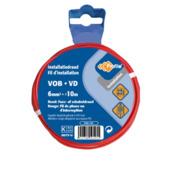 Profile VOB-kabel rood 6 mm² - lengte 10 m
