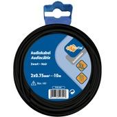 Câble audio Profile noir 2x0,75 mm² - long. 10 m