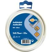 Câble audio Profile blanc 2x0,75 mm² - long. 25 m