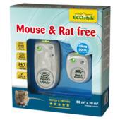 Ecostyle ultrasone rat- en muisbestrijder voor ruimte van 80 m² en ruimte van 30 m²