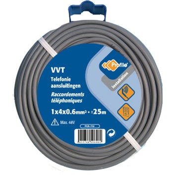 Câble Profile VTT gris 1 x 4 x 0,6 mm² - long. 10 m