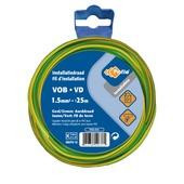 Câble Profile VOB jaune/vert 1,5 mm² - long. 25 m