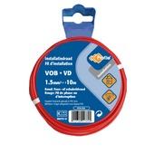 Profile VOB-kabel rood 1,5 mm² - lengte 10 m