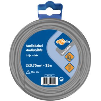 Câble audio Profile gris 2x0,75 mm² - long. 25 m