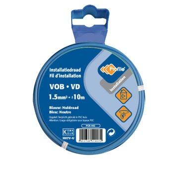 Câble Profile VOB bleu 1,5 mm² - long. 10 m