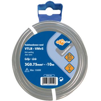 Profile VTLB-kabel grijs 3g 0,75 mm² - lengte 10 m