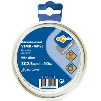 Profile VTMB-kabel wit 3g 2,5 mm² - lengte 10 m