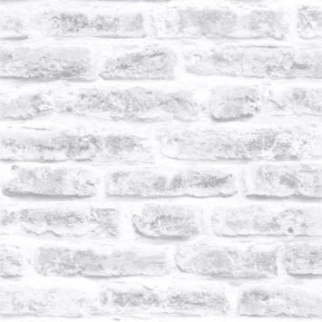 Intissé coloré motif pierres blanc 101801 10x0,52 m