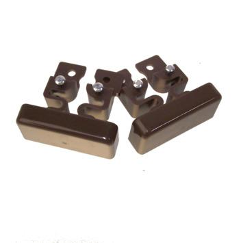 Legrand DLP einddeksel bruin 32x12,5 mm 2 stuks