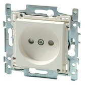 Niko stopcontact 2-polig zonder aarding 21 mm wit