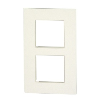Plaque de finition double verticale Niko Intense white