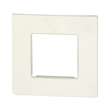 Plaque de finition simple Niko Intense white