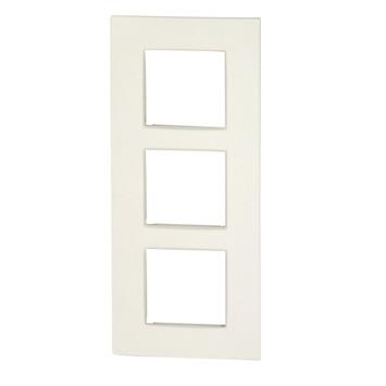Plaque de finition triple vertical Niko Intense white