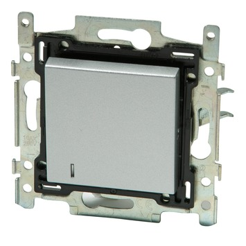 Niko 2-polige controleschakelaar zilver