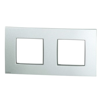 Plaque de finition double horizontale Niko Intense sterling
