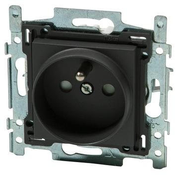 Niko stopcontact 2-polig met aarding 21 mm antraciet