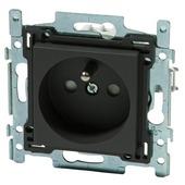 Niko stopcontact 2-polig met aarding 28,5 mm antraciet