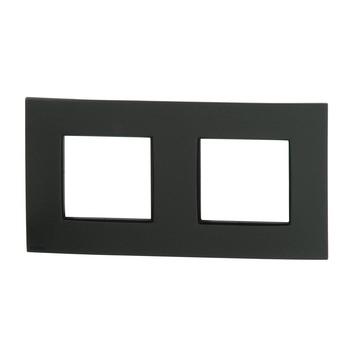 Plaque de finition double horizontale Niko Intense anthracite