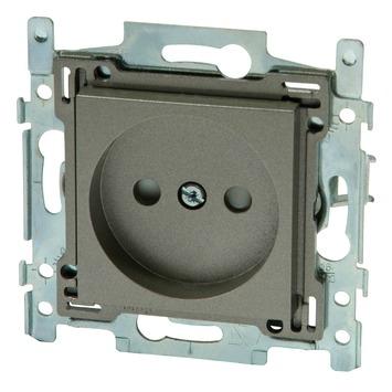 Niko stopcontact 2-polig zonder aarding 21 mm brons