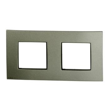 Plaque de finition double horizontale Niko Intense bronze