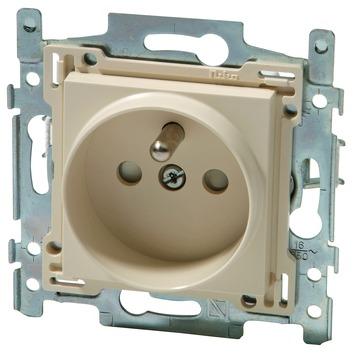 Niko stopcontact 2-polig met aarding 21 mm cream 10 stuks