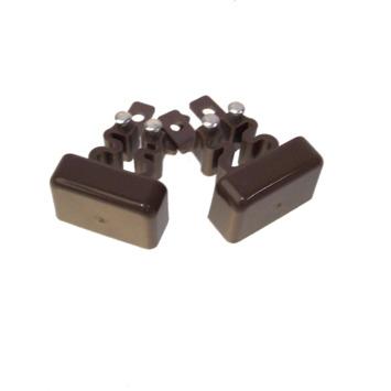 Legrand DLP einddeksel bruin 20x12,5 mm 2 stuks