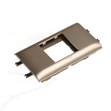 Legrand DLP Mosaic houder 2 modules aluminium