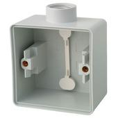 Niko Hydro opbouwdoos enkelvoudig met 1 ingang spuitwaterdicht grijs