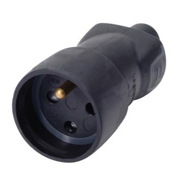 Legrand tegenstekker 16 A zwart rubber