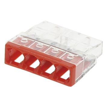 Wago verbindingsklem 4x0,5-2,5 mm² 10 st